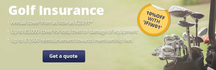 Golf landing page